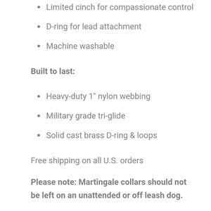 wag + bone Other - Dog + Bone Martingale Dog Collar Size S